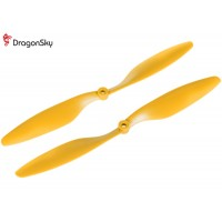 DragonSky (DS-P-1045-Y) Multirotor 10*4.5 Clockwise and Counter Clockwise Propeller Set (Yellow)