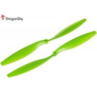 DragonSky (DS-P-1245-G) Multirotor 12*4.5 Clockwise and Counter Clockwise Propeller Set (Green)