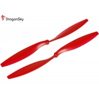 DragonSky (DS-P-1245-R) Multirotor 12*4.5 Clockwise and Counter Clockwise Propeller Set (Red)