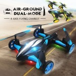 JJRC H23W 0.3MP WIFI Camera 2.4G 4CH 6-Axis Gyro Air-Ground Flying Car RC Drone RTF Quadcopter with 3D Flip One-key Return Headless Mode