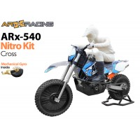 AR Racing (AR-X-ARN) ARX 540 BASE 1/4th Scale Nitro Motorbike Kit with Mechanical Gyro - Cross