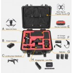 DJI Mavic Air upgraded Waterproof Hardshell Suitcase, Hard Carry Case, Large spare size storage for 4pcs batteries (one inside the Mavic Air) and other accessories. Engineering PP material & high quality EVA backing plate.