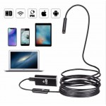 Wifi Endoscope Camera Android 720P 8mm 2m Cable Snake Flexible Usb Endoscope For Iphone Borescope Camera Endoscopio