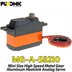 Fusonic (MG-A-S8210) Mini Size High Speed Metal Gear Aluminum Heatsink Analog Servo 28G 2.5KG 0.07sec
