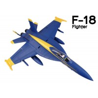 GL (812-1) F-18 Fighter EPO Electric Duct Fan Airplane Kit (Blue Angels)