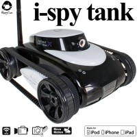Happy Cow (HC-777-287A-B) iPhone Controlled i-spy Tank with First Person View Camera RTR (Black) - WIFI
