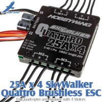 HobbyWing (HW-SKYWALKER-25A-4) 25A x 4 SkyWalker Quattro Brushless ESC for Quadcopter and Airplane with 4 Motors
