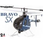 Nine Eagles (NE-R/C-320A-BRAVO-SX-DB) 4CH Bravo SX Micro Helicopter RTF (Blue) - 2.4GHz