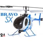 Nine Eagles (NE-R/C-320A-BRAVO-SX-NC) 4CH Bravo SX Micro Helicopter RTF (Navy Camouflage) - 2.4GHz