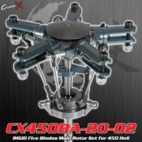 CopterX (CX450BA-20-02) RIGID Five Blades Main Rotor Set for 450 Heli
