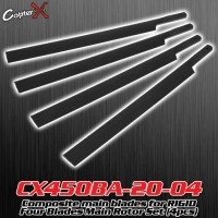 CopterX (CX450BA-20-04) Composite main blades for RIGID Four Blades Main Rotor Set (4pcs)