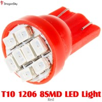 DragonSky (DS-LED-SMD-8-R) T10 1206 8SMD LED Light - Red