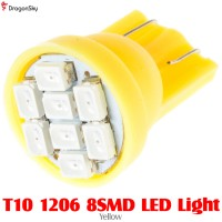 DragonSky (DS-LED-SMD-8-Y) T10 1206 8SMD LED Light - Yellow