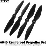 ATG (ATG-6040-P-BK) 6040 Reinforced Propeller Set with Balance Injection Molding for Mini Quadcopter (2CW+2CCW, Plastic, Black)