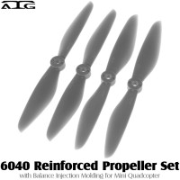 ATG (ATG-6040-P-GY) 6040 Reinforced Propeller Set with Balance Injection Molding for Mini Quadcopter (2CW+2CCW, Plastic, Grey)