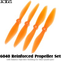 ATG (ATG-6040-P-O) 6040 Reinforced Propeller Set with Balance Injection Molding for Mini Quadcopter (2CW+2CCW, Plastic, Orange)