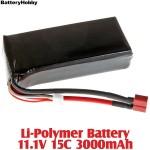 BatteryHobby (BH11.1V15C3000) Li-Polymer Battery 11.1V 15C 3000mAh