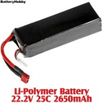 BatteryHobby (BH22.2V25C2650) Li-Polymer Battery 22.2V 25C 2650mAh