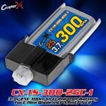 CopterX (CX-1S-300-25C-1) 3.7V 25C 300mAh Li-Polymer Battery for E-flite Blade mCP X, mCP X v2