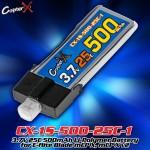 CopterX (CX-1S-500-25C-1) 3.7V 25C 500mAh Li-Polymer Battery for E-flite Blade mCP X, mCP X v2