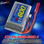 CopterX (CX-1S-600-30C-1) 3.7V 30C 600mAh Li-Polymer Battery for WALKERA New V120D02S, QR Infra X, QR Spacewalker, QR W100 and QR W100S