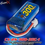 CopterX (CX-2S-300-35C-1) 7.4V 35C 300mAh Li-Polymer Battery for E-flite Blade 130 X