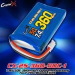 CopterX (CX-2S-360-50C-1) 7.4V 50C 360mAh Li-Polymer Battery for E-flite Blade 130 X