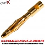 CopterX (CX-PLUG-BANANA-2.0MM-M) 2.0mm Banana Plug Gold Plated Connector - Male