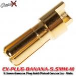 CopterX (CX-PLUG-BANANA-5.5MM-M) 5.5mm Banana Plug Gold Plated Connector - Male