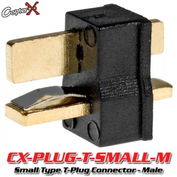 CopterX (CX-PLUG-T-SMALL-M) Small Type T-Plug Deans Style Connector - MalePlug and Wire
