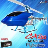 CopterX CX 450AE V3 Flybarless Kit