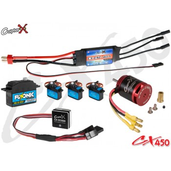 CopterX (CX450EPP-V2) 450 Flybar Electronic Parts Package V2CopterX Electronic Parts