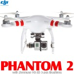 DJI Phantom 2 with Zenmuse H3-3D 2.4G