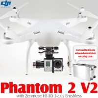 DJI Phantom 2 V2 2.4G with Zenmuse H3-3D and Wheeled Aluminium Carrying Case