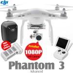 DJI Phantom 3 Advanced + Extra Battery + Part 50 Hardshell Backpack Combo (Phantom logo)