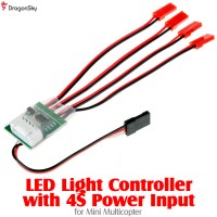 DragonSky (DS-LED-MC-4S) LED Light Controller with 4S Power Input for Mini Multicopter