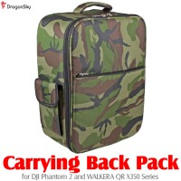 DragonSky (DS-P2-BP-CAMO) Carrying Back Pack for DJI Phantom 2 and WALKERA QR X350 Series (Green Camouflage)