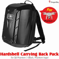 DragonSky (DS-P3-BP-HS) Hardshell Carrying Back Pack for DJI Phantom 3 (Black, Phantom logo)