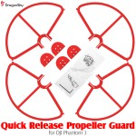 DragonSky (DS-P3-PG-QR-R) Quick Release Propeller Guard for DJI Phantom 3 (Red)