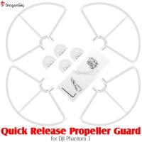 DragonSky (DS-P3-PG-QR-W) Quick Release Propeller Guard for DJI Phantom 3 (White)