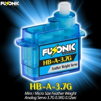 Fusonic (HB-A-3.7G) Mini / Micro Size Feather Weight Analog Servo 3.7G 0.5KG 0.12sec