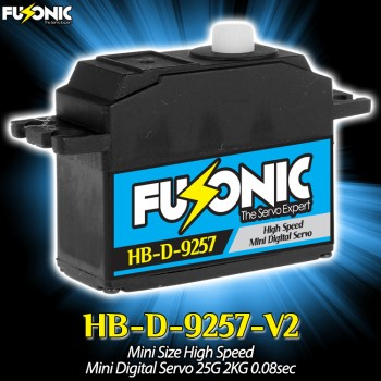 Fusonic (HB-D-9257-V2) Mini Size High Speed Mini Digital Servo 25G 2KG 0.08secCopterX CX 450PRO Parts