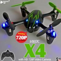 Hubsan H107C X4 720P HD Camera Quadcopter (Black Green, Mode2)