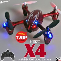 Hubsan H107C X4 720P HD Camera Quadcopter (Red Silver, Mode2)