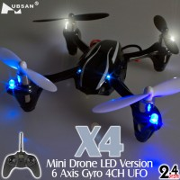 Hubsan (HS-H107L-M1) X4 LED 4CH Mini Quadcopter RTF
