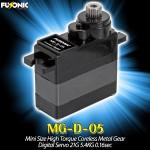 Fusonic (MG-D-05) Mini Size High Torque Coreless Metal Gear Digital Servo 21G 5.4KG 0.16sec