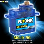Fusonic (MG-D-9G) Mini / Micro Size Metal Gear Digital Servo 9G 1.3KG 0.12sec