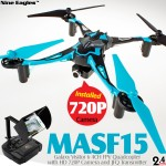 Nine Eagles Galaxy Visitor 6 4CH FPV Quadcopter (Blue, Mode 1)