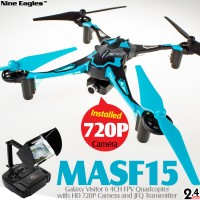 Nine Eagles Galaxy Visitor 6 4CH FPV Quadcopter (Blue, Mode 2)