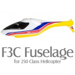 F3C Fuselage for 250 Class Helicopter (Yellow)